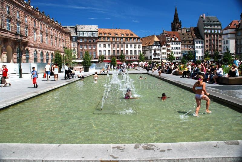 Disponga Kleber, Strasburgo fotografia stock