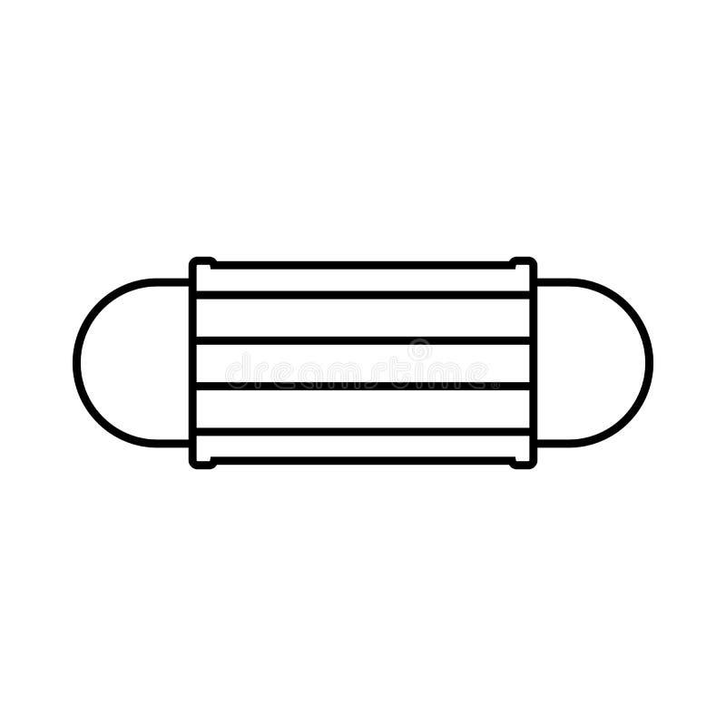 Disponibel symbol för framsidamaskering, översiktsstil royaltyfri illustrationer