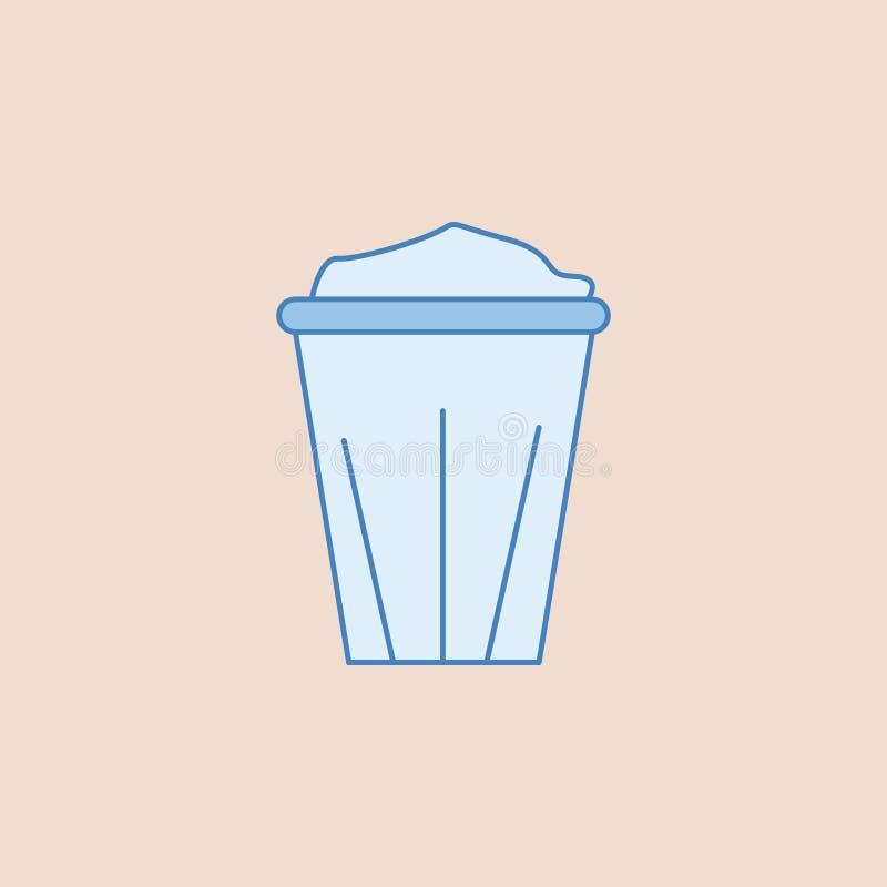 Disponibel symbol för kaffekopp Beståndsdel av badrummet för mobil begrepps- och rengöringsdukappsillustration Fältöversiktssymbo royaltyfri illustrationer