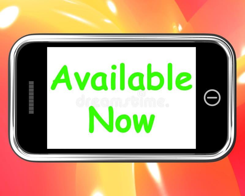 Disponibile ora sulle manifestazioni del telefono nell'ordinazione di riserva o online illustrazione vettoriale