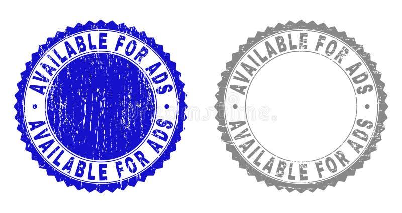 DISPONIBLE texturisé POUR les timbres grunges d'ADS illustration stock