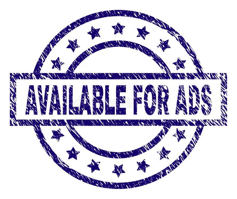 DISPONIBLE texturisé rayé POUR le joint de timbre d'ADS illustration libre de droits