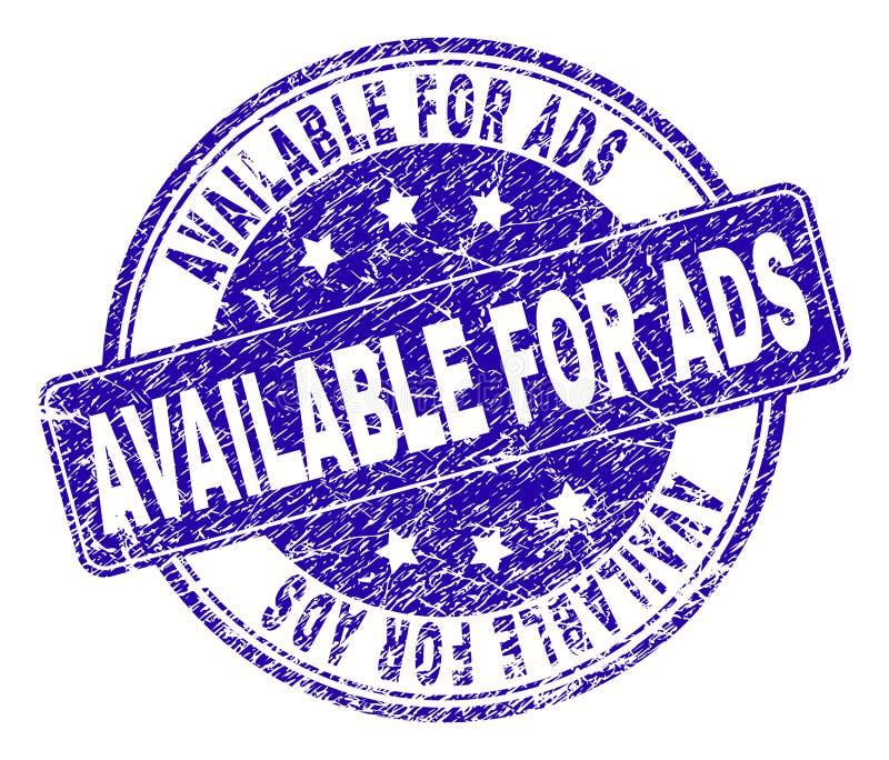 DISPONIBLE texturisé rayé POUR le joint de timbre d'ADS illustration de vecteur
