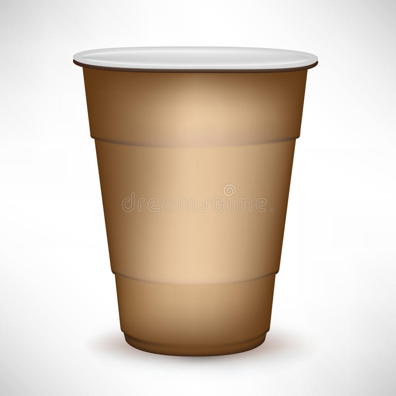 Disposable coffee container stock illustration