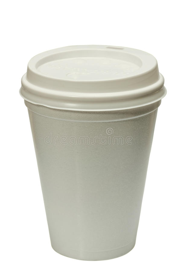 Disposable coffee cup stock image