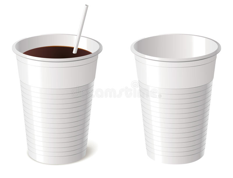 Download Disposable cup stock vector. Image of up, drinking, plastic - 28163827