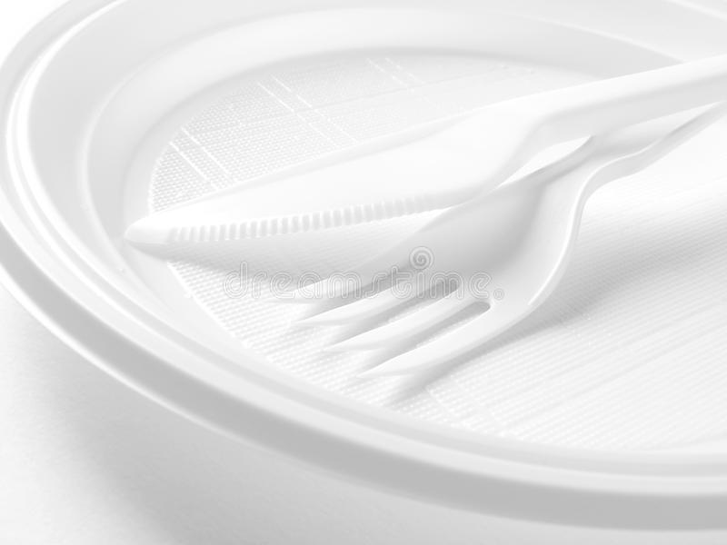 Disposable dishware stock photography