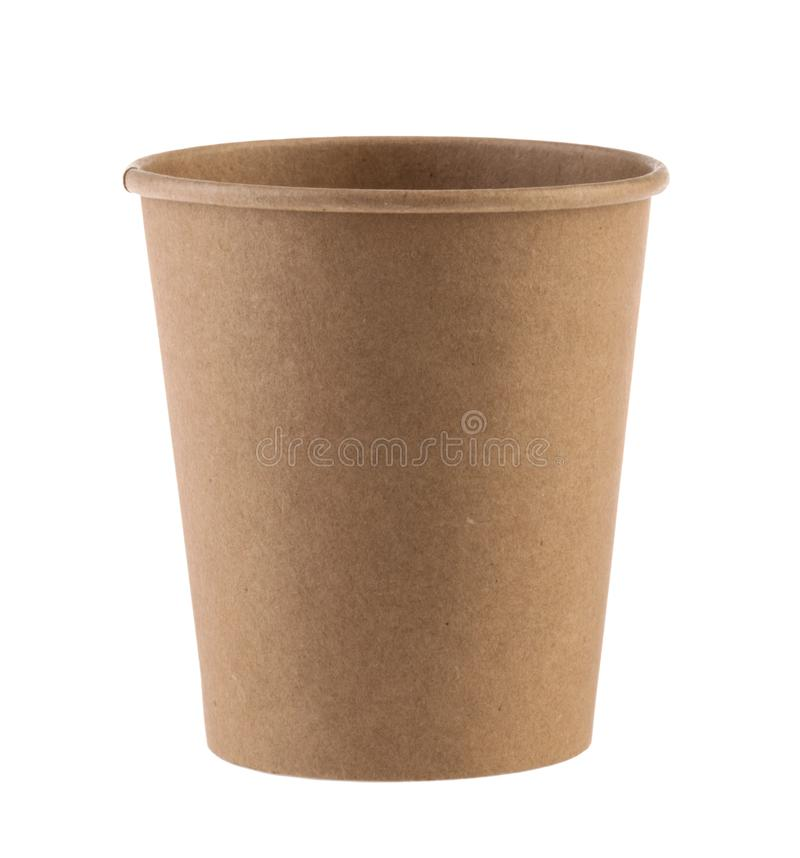 Disposable empty cup isolated. Clipping path - Image.  royalty free stock images
