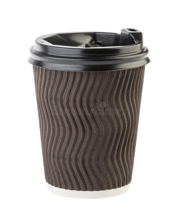Disposable empty cup isolated without shadow. Clipping path - Image.  stock images