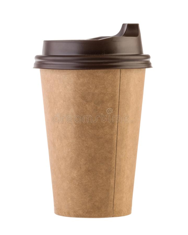 Disposable paper cup isolated. Clipping path - Image.  stock images