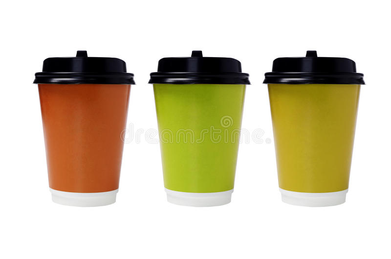 Download Disposable Paper Cups stock image. Image of color, recycling - 26385571