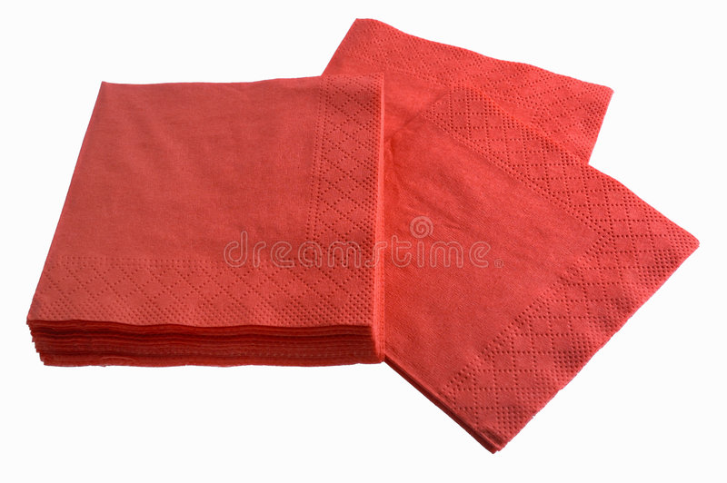 Disposable paper napkins stock images
