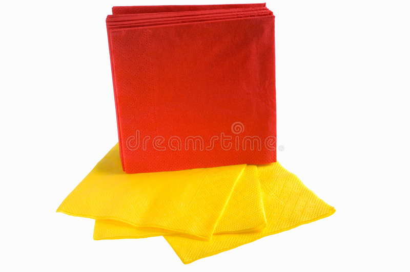 Disposable paper napkins royalty free stock photo