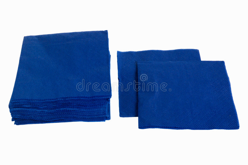 Disposable paper napkins royalty free stock images