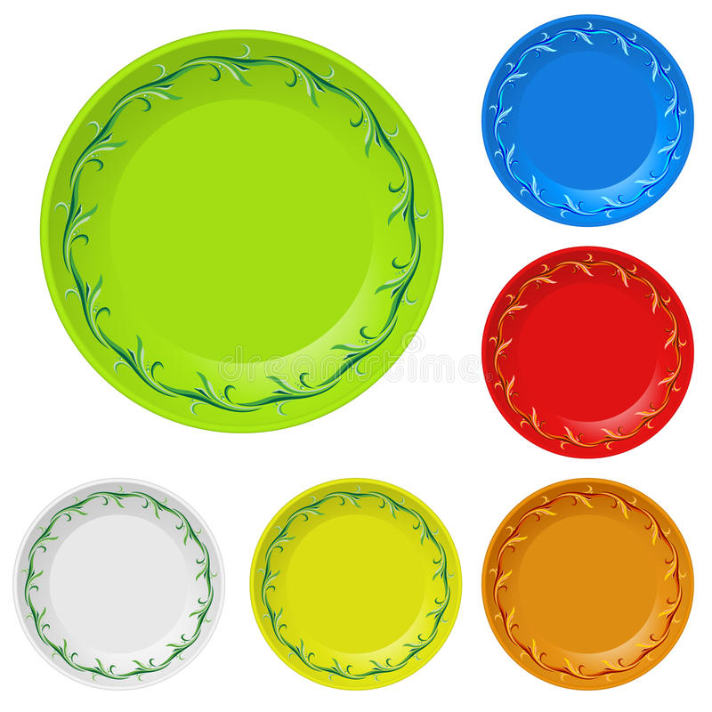 Disposable plates vector illustration