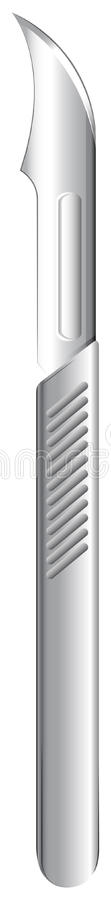 A disposable scalpel. Illustration of a disposable scalpel on a white background royalty free illustration