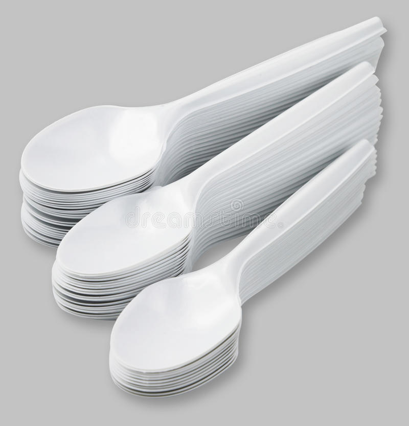 Disposable Spoon Stock Photography
