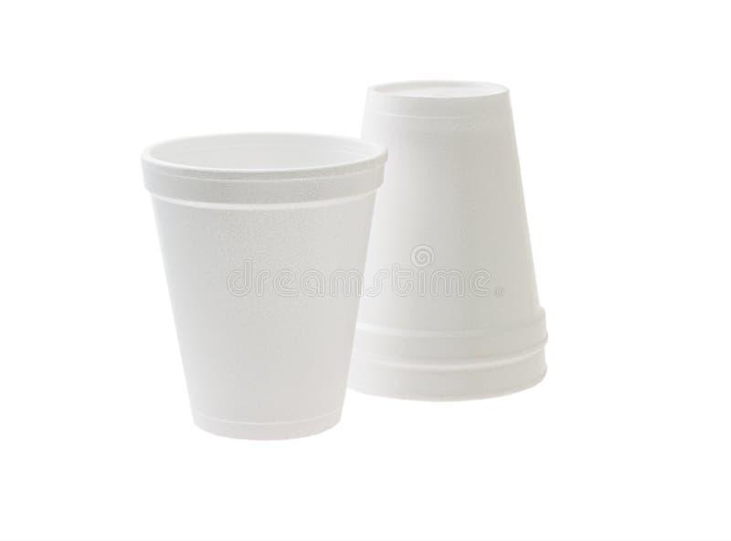 Disposable Styrofoam Cups Royalty Free Stock Photos