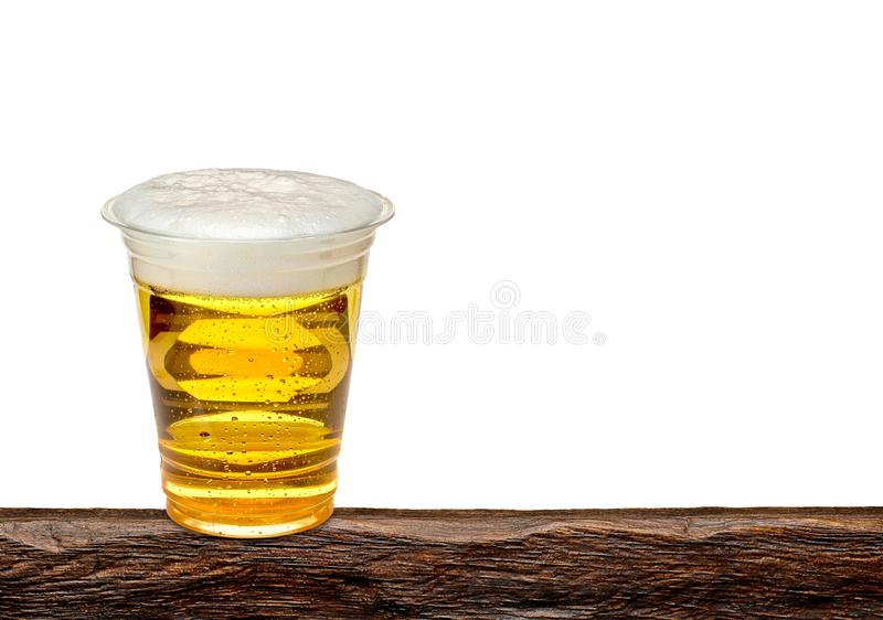 Disposable or takeaway beer cup stock photography