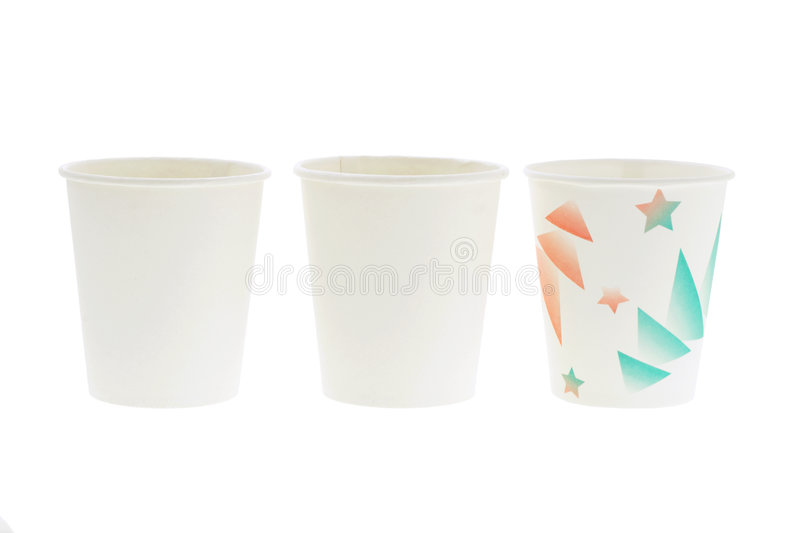 Disposal paper cups royalty free stock images