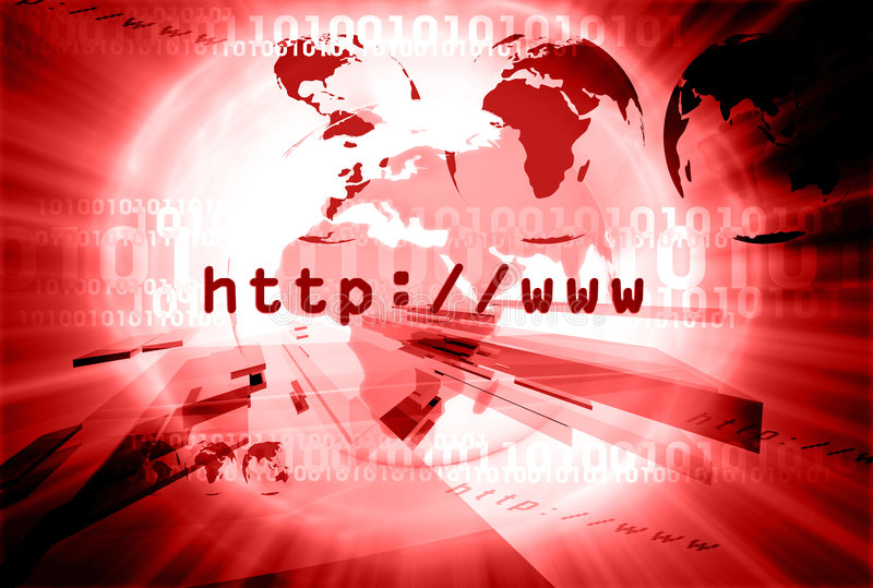 Disposição 006 do HTTP ilustração royalty free