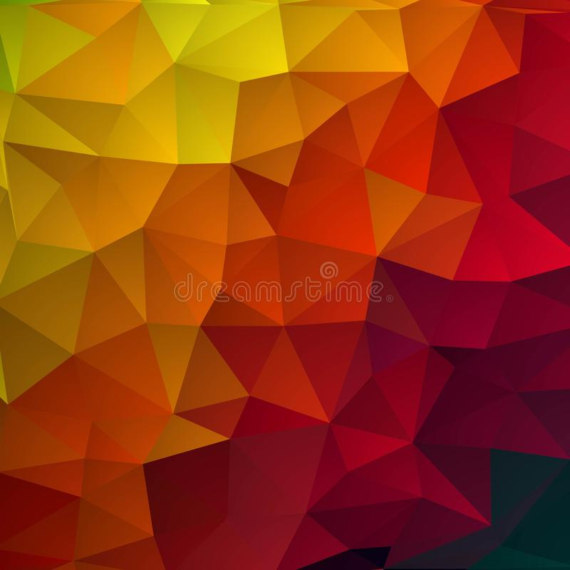 Disposição abstrata colorida dos triângulos para anunciar Eps 10 ilustração do vetor