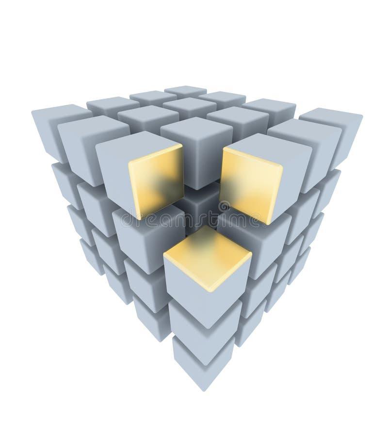 Disposição abstrata das caixas ilustração stock