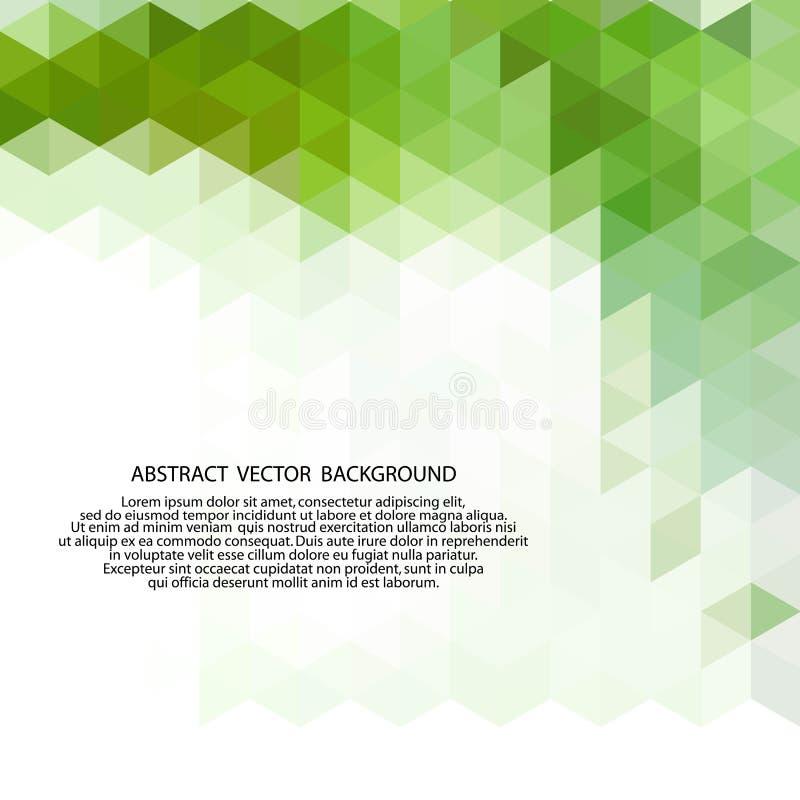 Disposição abstrata verde dos triângulos para anunciar Eps 10 ilustração do vetor