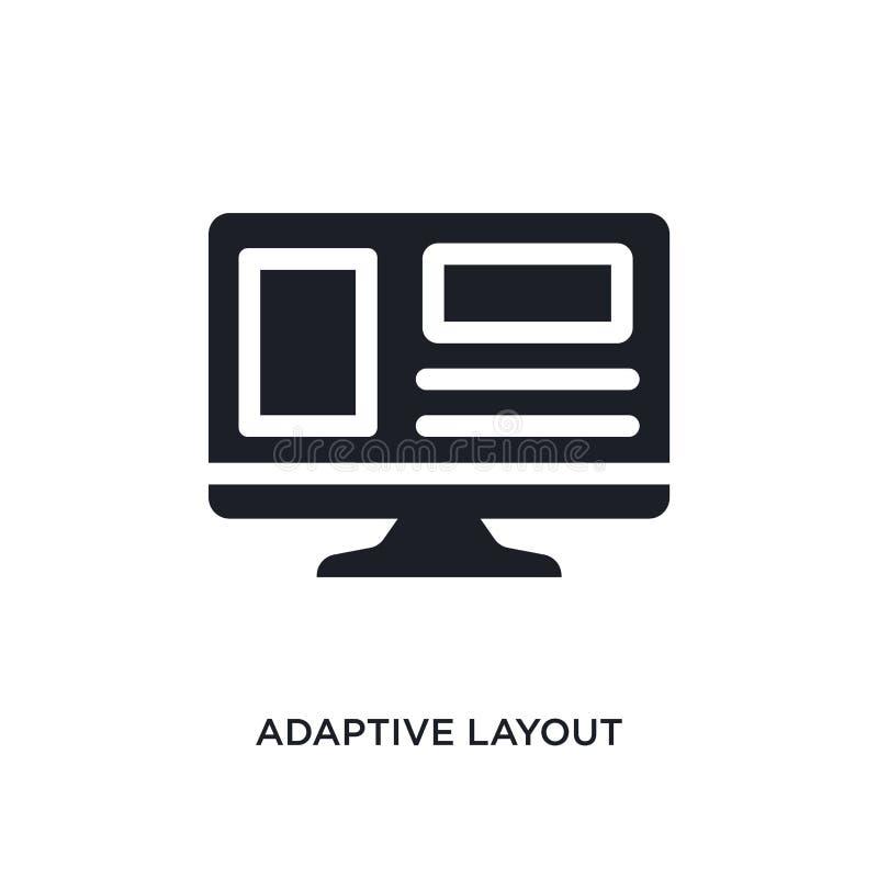 disposição adaptável ícone isolado ilustração simples do elemento dos ícones de programação do conceito sinal editável do logotip ilustração do vetor