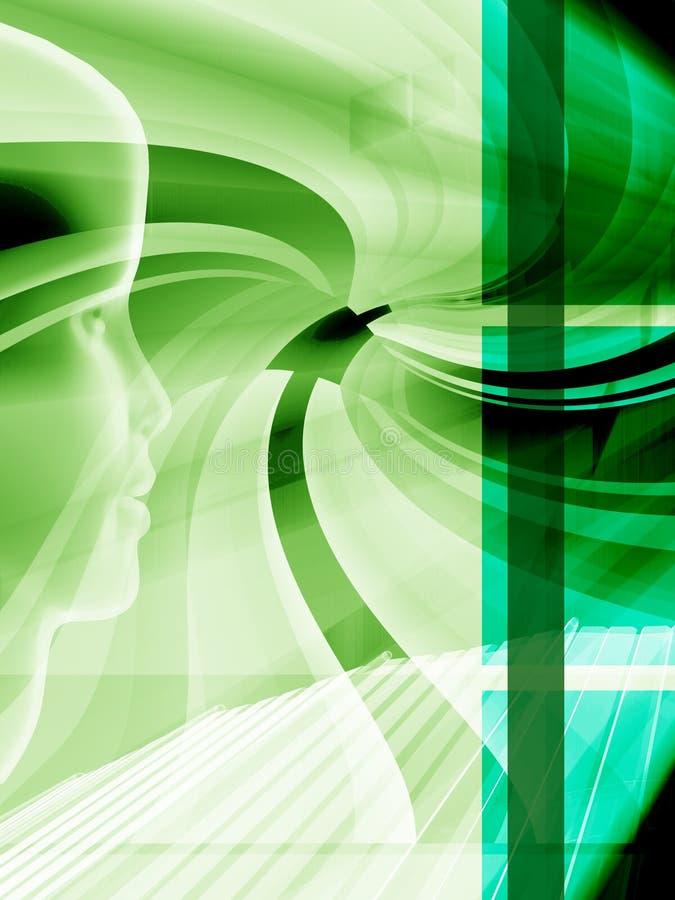 Disposição alta tecnologia verde ilustração royalty free