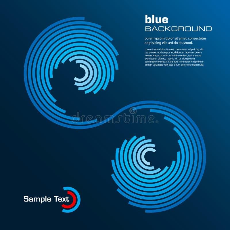 Disposição azul abstrata. Vetor. ilustração royalty free