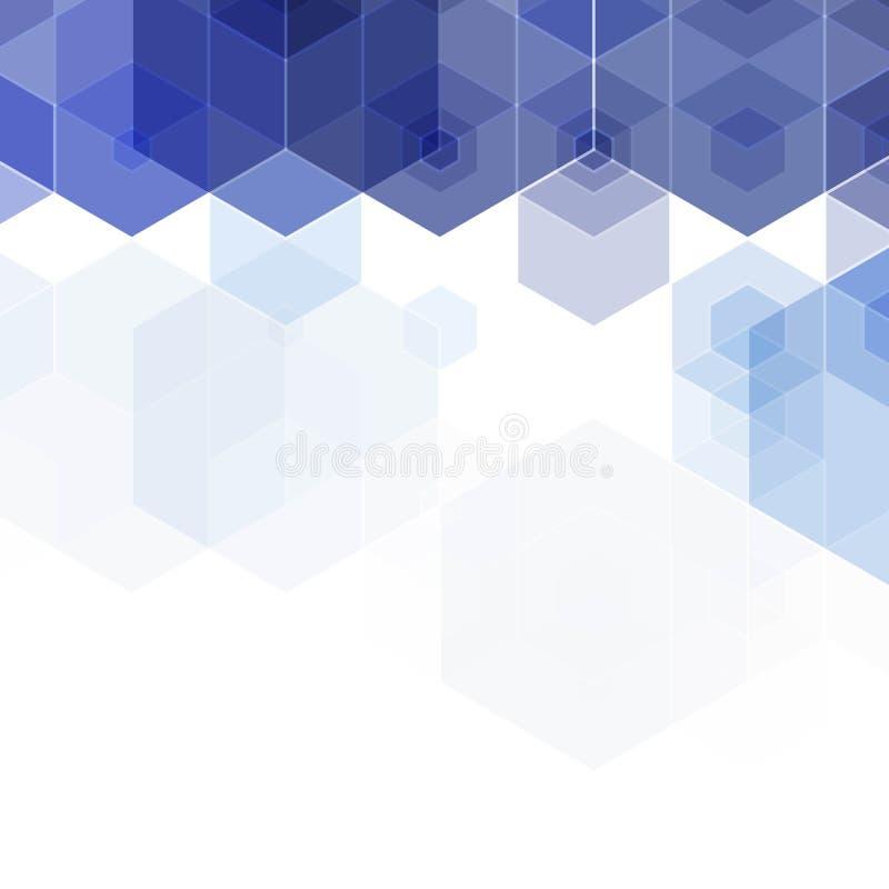 Disposição azul dos hexágonos para anunciar Fundo para a apresenta??o Ilustra??o abstrata do vetor Eps 10 ilustração stock