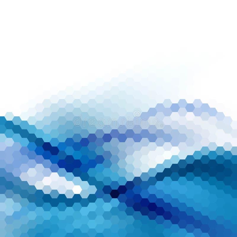 Disposição azul dos hexágonos para anunciar Fundo da apresenta??o Eps 10 ilustração royalty free