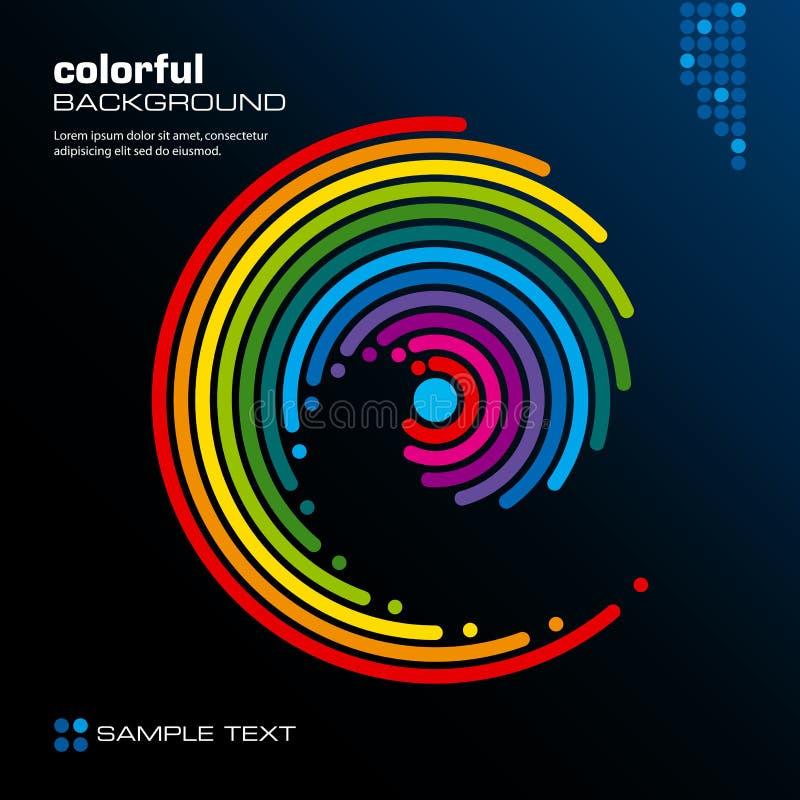 Disposição colorida abstrata. Vetor. ilustração stock