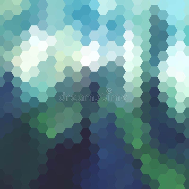 Disposição colorida dos hexágonos para anunciar Fundo abstrato do vetor Eps 10 ilustração royalty free