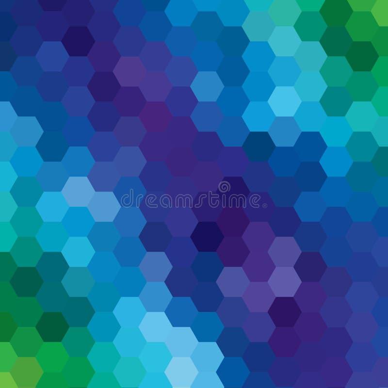 Disposição colorida dos hexágonos para anunciar Fundo abstrato eps 10 do vetor ilustração royalty free