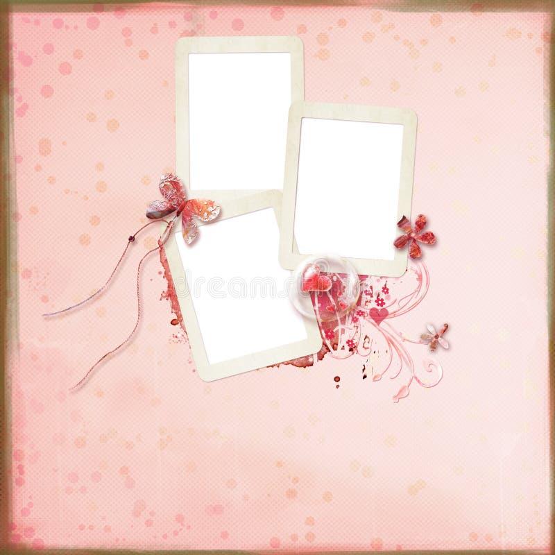 Disposição com frames para fotos ilustração royalty free