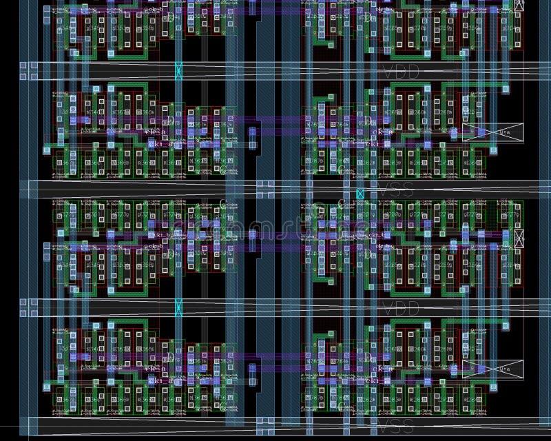 Disposição da peça da microplaqueta imagens de stock