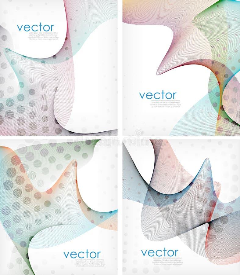 Disposição de fluxo colorida da onda do negócio ilustração do vetor