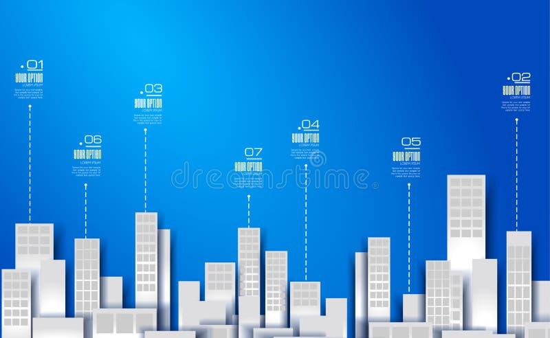 Disposição de Infographic para a apresentação de dados comerciais moderna ilustração do vetor