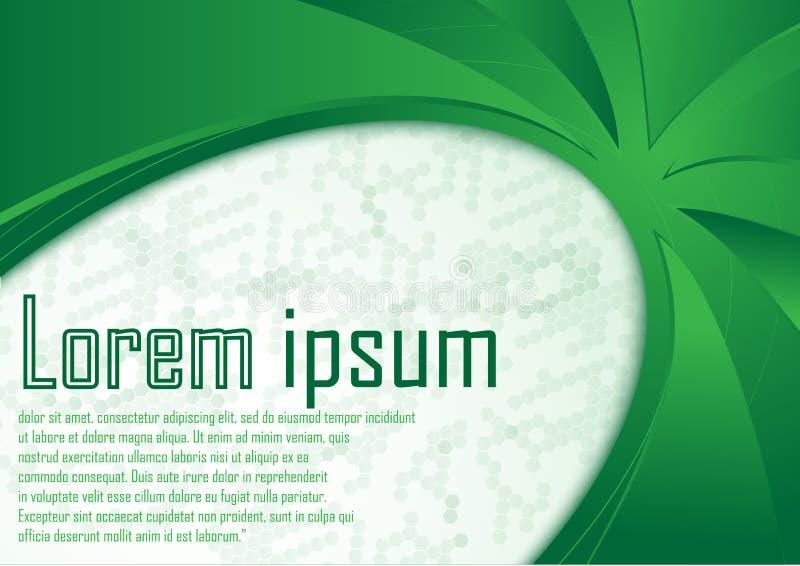 Disposição dinâmica da natureza do molde abstrato da beira do verde do certificado fotos de stock