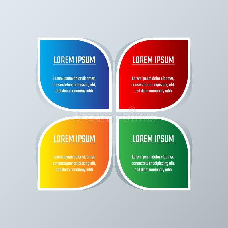 Disposição do diagrama do molde do infographics do negócio ilustração stock