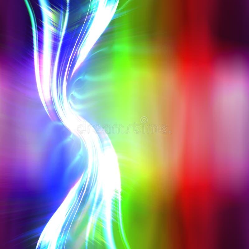 Disposição do Fractal do plasma do arco-íris ilustração royalty free