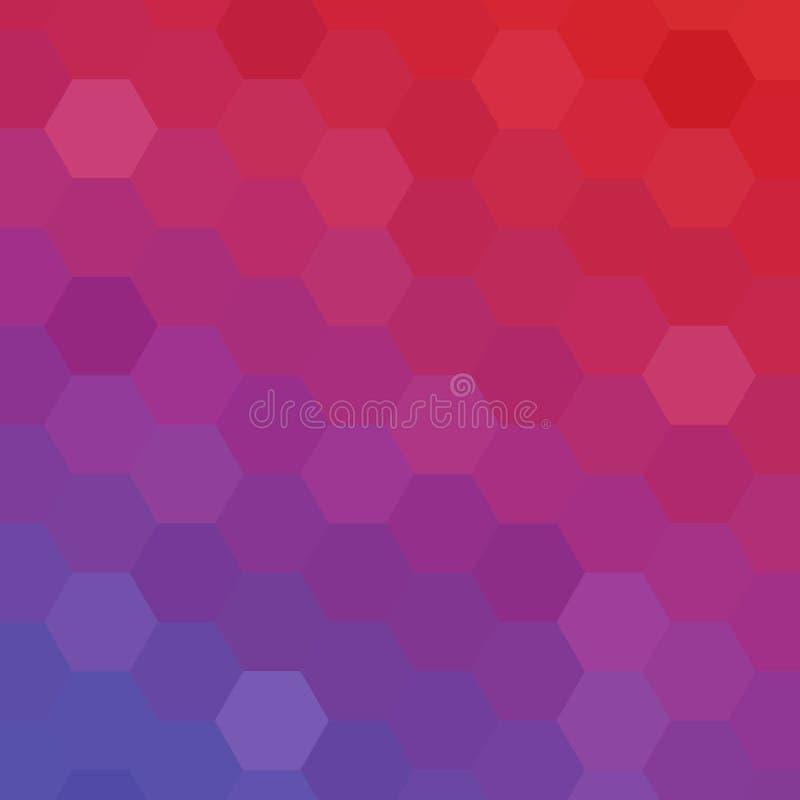 Disposição do hexágono da cor para anunciar Imagem do vetor Molde abstrato para a apresenta??o Eps 10 ilustração royalty free
