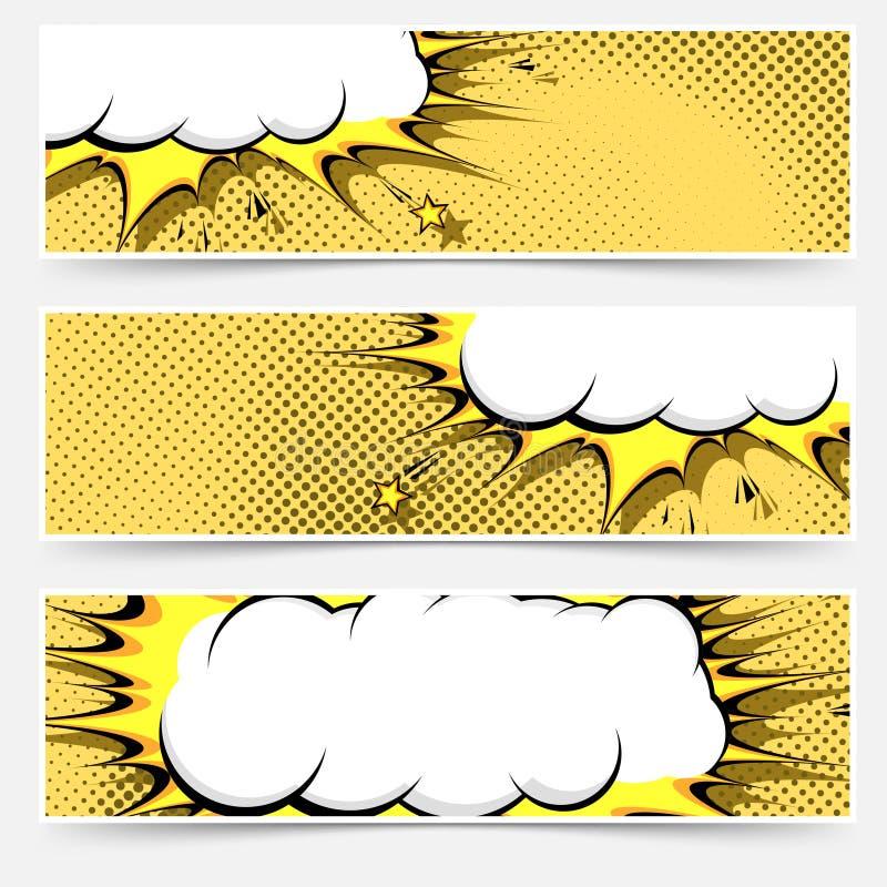 Disposição do inseto da Web do estilo da banda desenhada do pop art ilustração stock