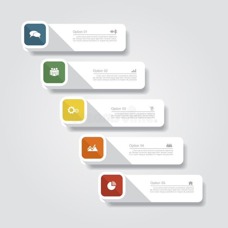 Disposição do molde do relatório de Infographic Vetor ilustração do vetor