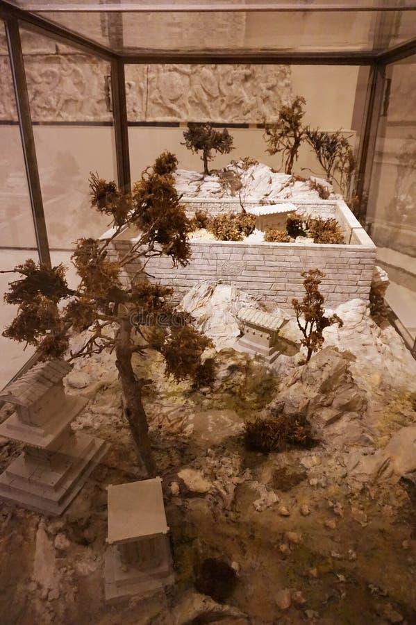 A disposição do pátio chinês em um dos museus do palácio de Hovburg em Viena imagem de stock royalty free