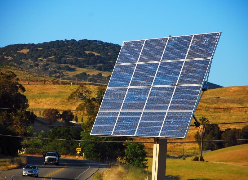 Disposição do painel solar fotografia de stock