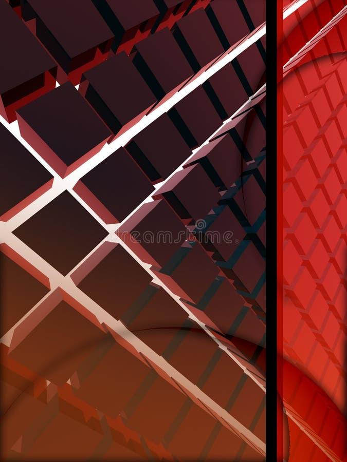 disposição do vermelho 3d ilustração stock