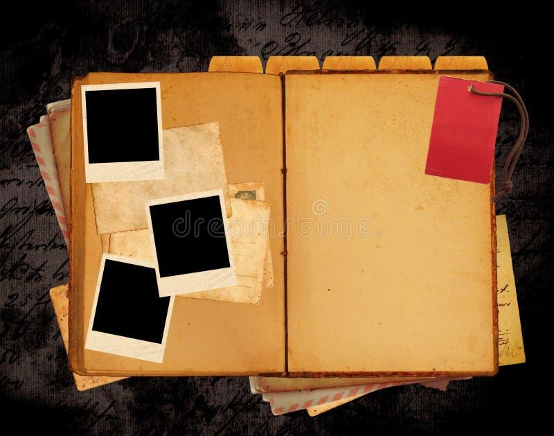Disposição Do Web Site Do Livro Do Vintage Fotos de Stock